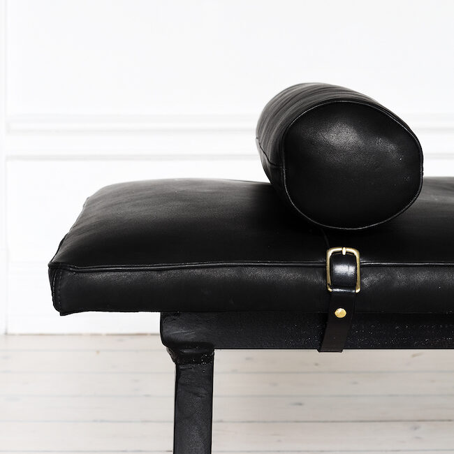 Ellinor Halling Leather daybed details